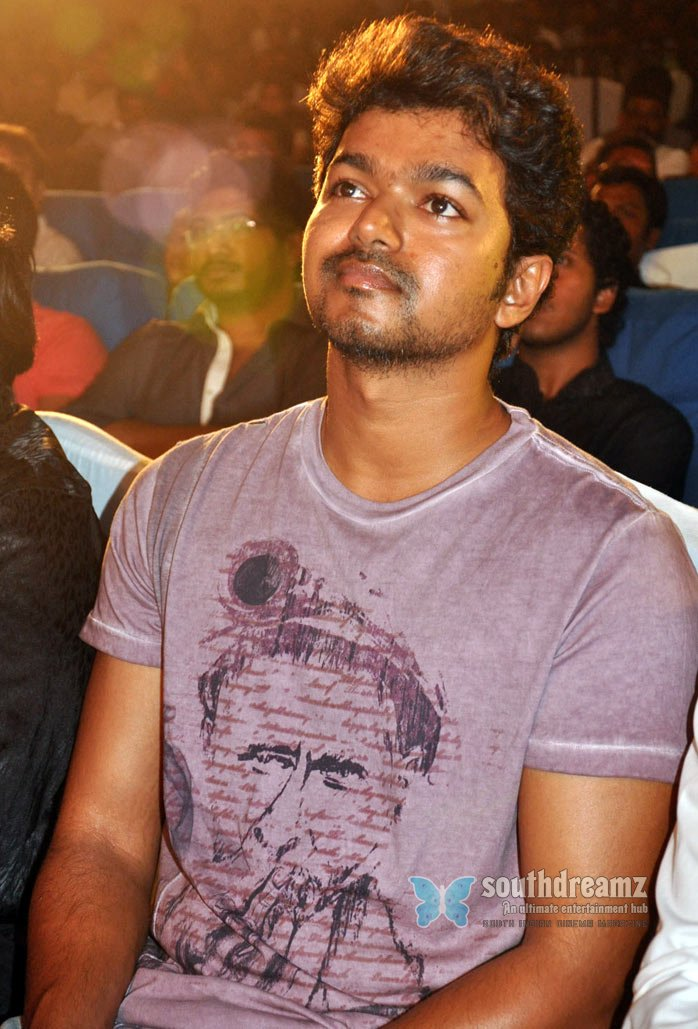 Kollywood actor vijay at osthi movie audio launch stills 5