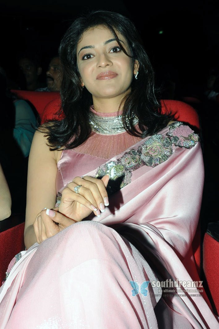 South indian cute actress kajal agarwal saree stills 25