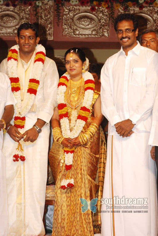 Stars at arun pandian cousin reception stills 23