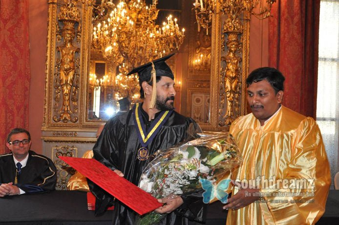 Vikram honoured with doctorate stills 4